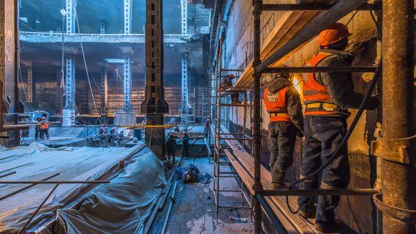 Строительство станции БКЛ Нижегородская