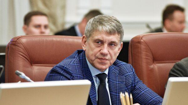 Министр энергетики и угольной промышленности Украины Игорь Насалик на заседании Кабинета министров Украины в Киеве
