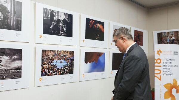 Открытие выставки победителей конкурса им. Андрея Стенина в Мадриде