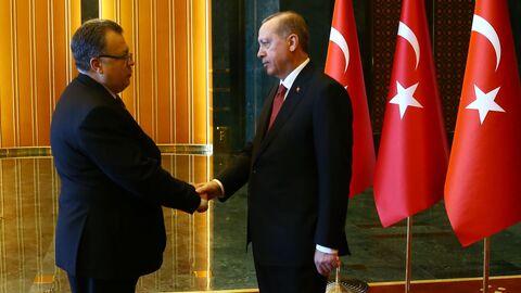 С президентом Турции Реджепом Тайипом Эрдоганом