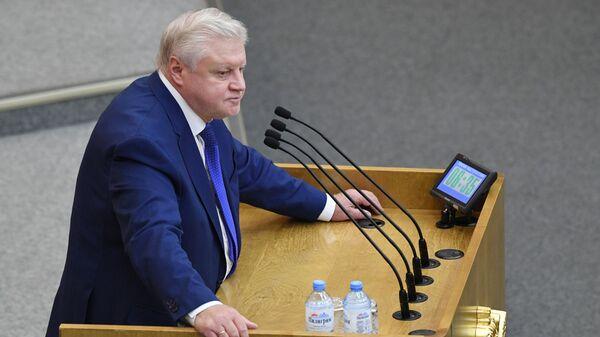 Руководитель фракции Справедливая Россия в Государственной Думе РФ Сергей Миронов