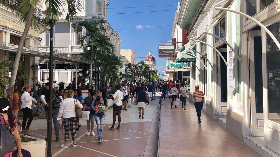 Одна из улиц Сьенфуэгоса, Куба