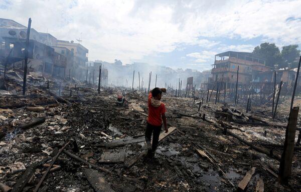 Последствия пожара в городе Манаус, Бразилия
