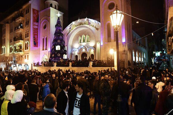 Празднование католического Рождества в Сирии