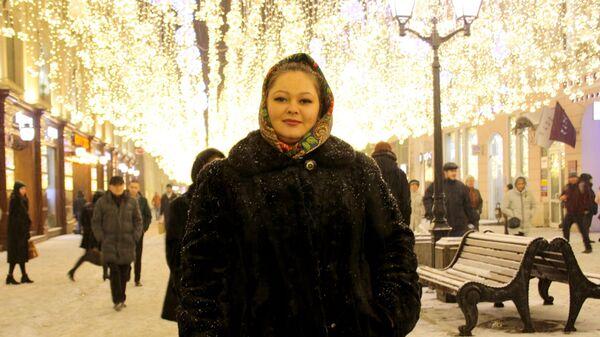 Москвичка Ирина на Никольской улице