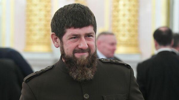 Глава Чечни Рамзан Кадыров во время заседания Госсовета по развитию добровольчества в Кремле