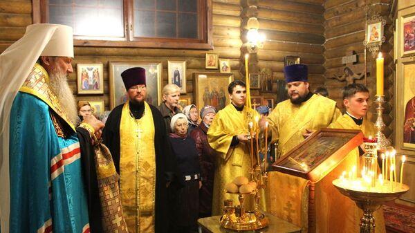 Всенощное бдение в храме святого блаженного Прокопия Вятского. Киров (Вятка)