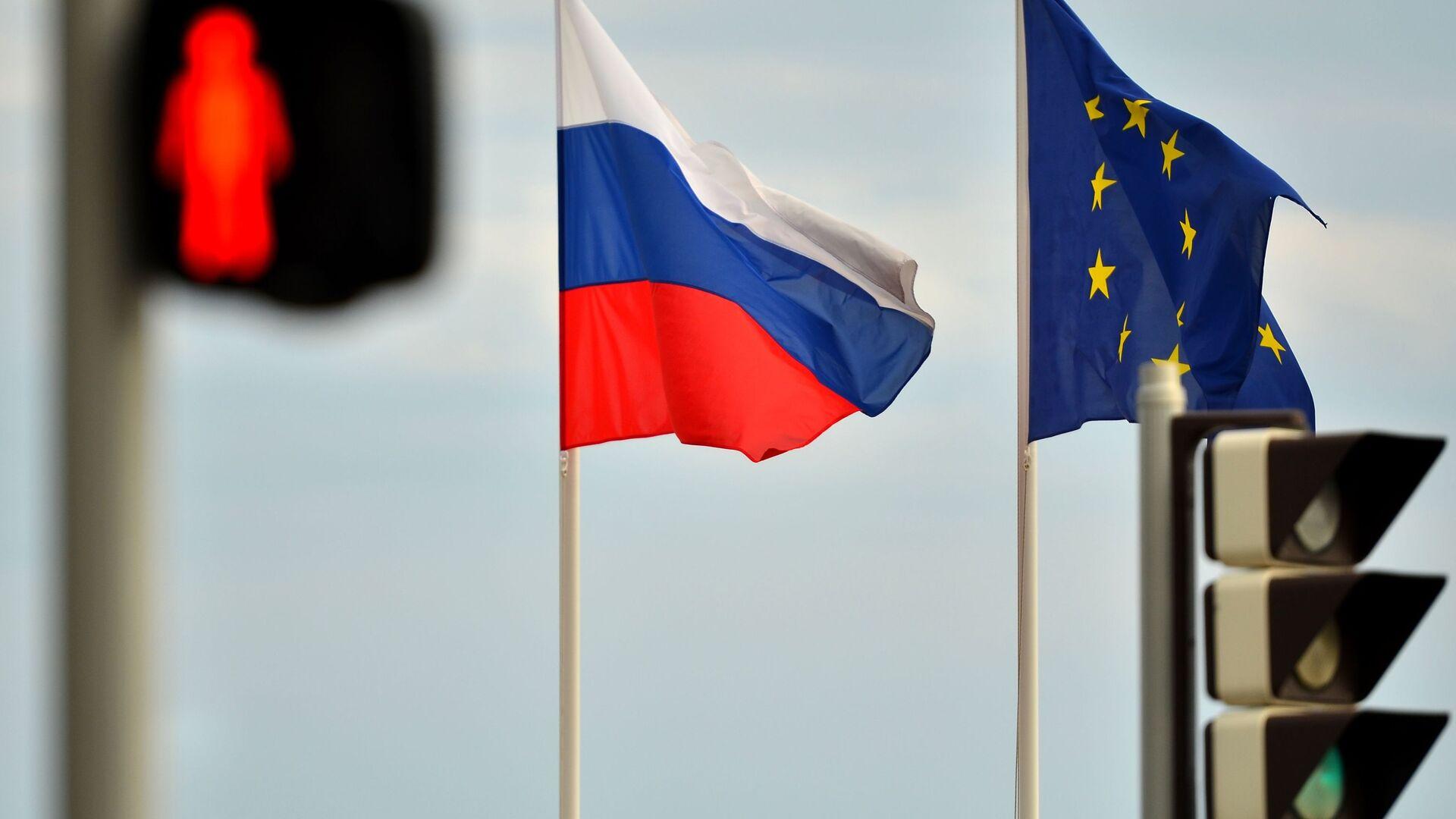 Флаги России и ЕС - РИА Новости, 1920, 25.06.2021