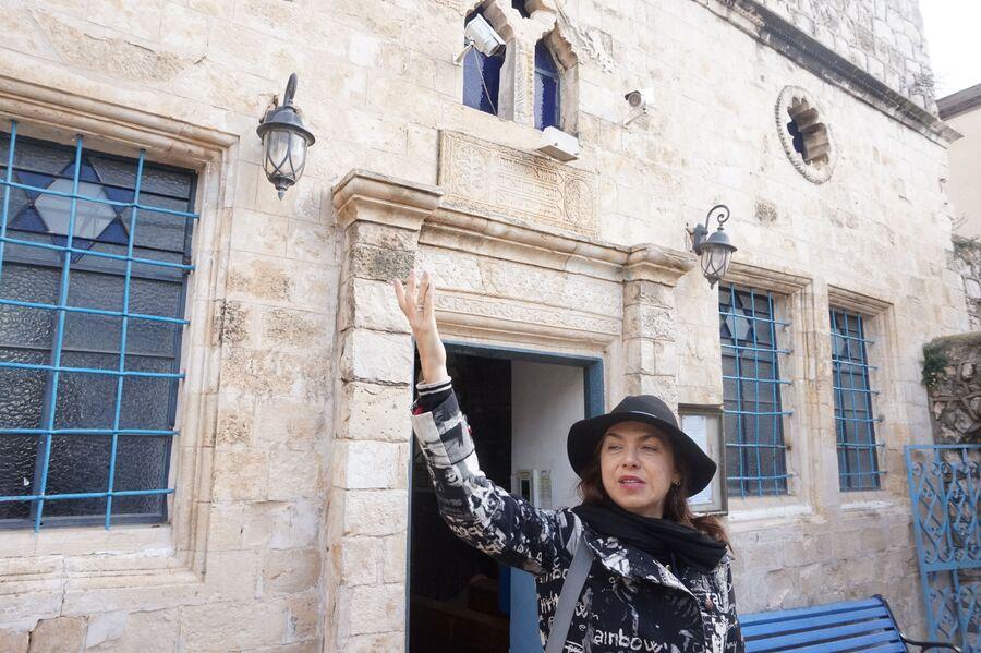Возле синагоги в Цфате