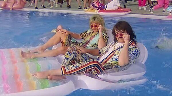 Кадр из клипа Филиппа Киркорова и Николая Баскова Ibiza