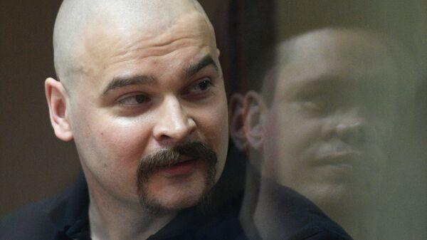 Лидер националистического движения Реструкт Максим Марцинкевич (Тесак) во время оглашения приговора в Бабушкинском суде Москвы