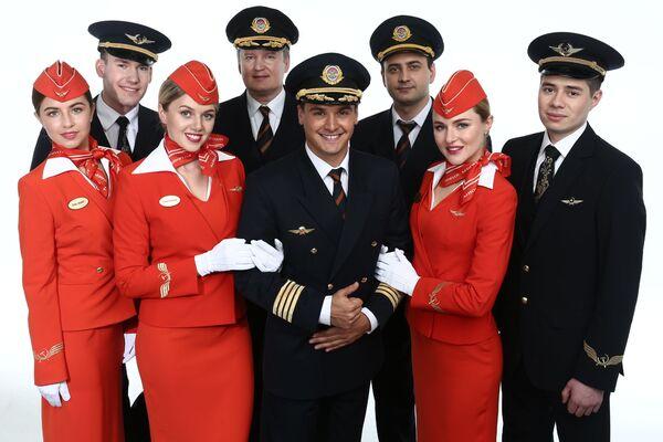 Сотрудники авиакомпании Аэрофлот
