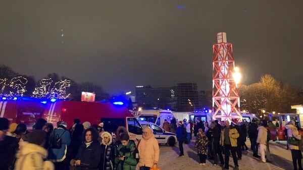 Обрушение перехода в Парке Горького