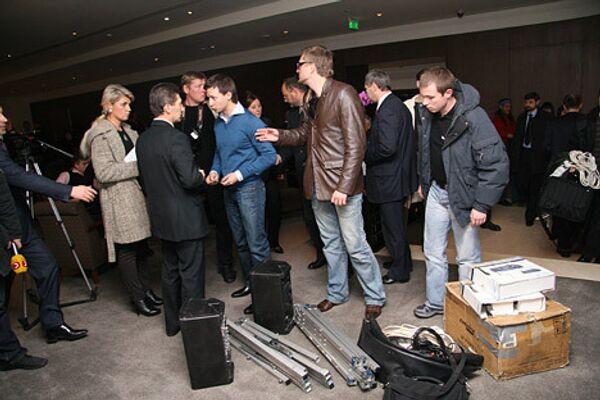 В отеле Хаят во время срыва демонстрации фильма Война 08.08.08