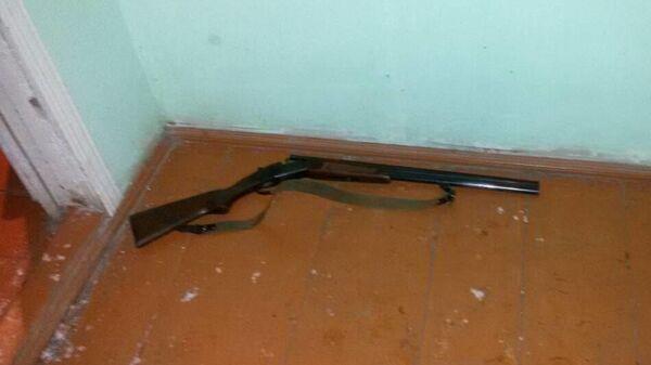 Место преступления в поселке Первомайский в Чувашии