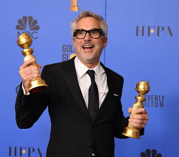 Режиссер Альфонсо Куарон на премии Золотой глобус. 6 января 2019