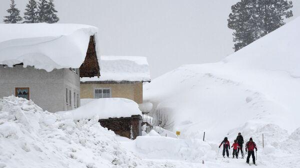 Последствия сильного снегопада в Австрии. 7 января 2019