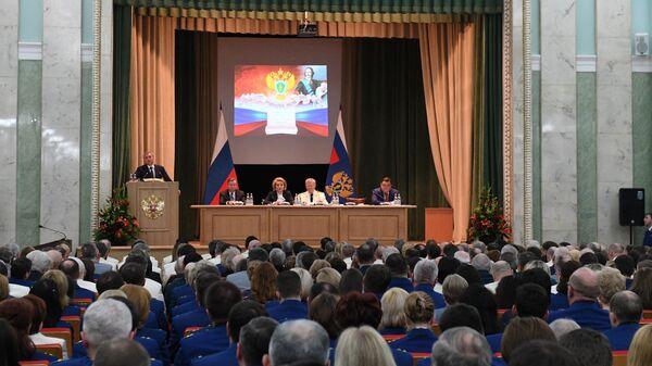 Участники заседания, посвященного 297-й годовщине образования российской прокуратуры. 11 января 2019
