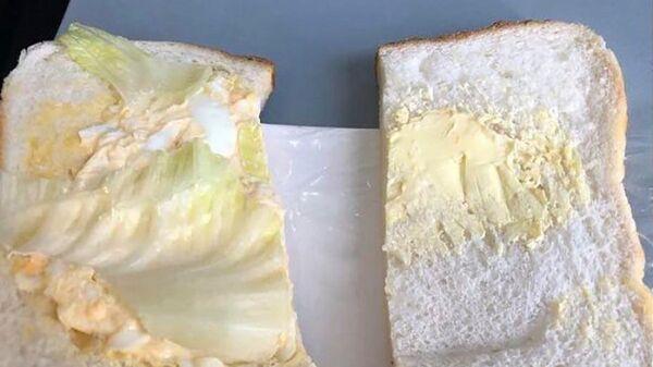 Ник Мосли сфотографировал сэндвич во время полета авиакомпанией Jetstar