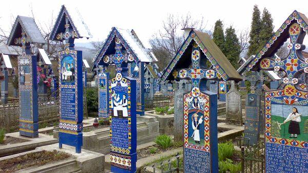 Веселое кладбище в Сапаньце, Румыния