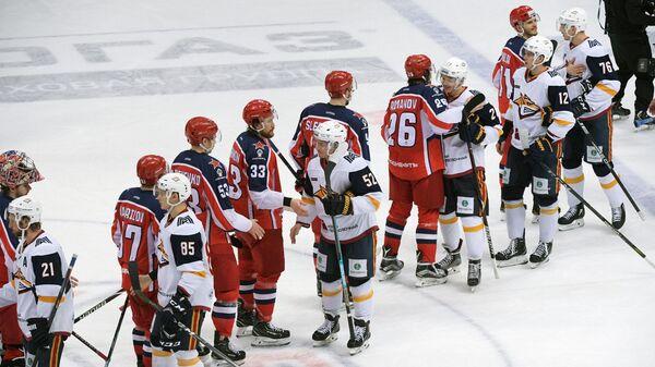 Хоккеисты ЦСКА и Металлурга