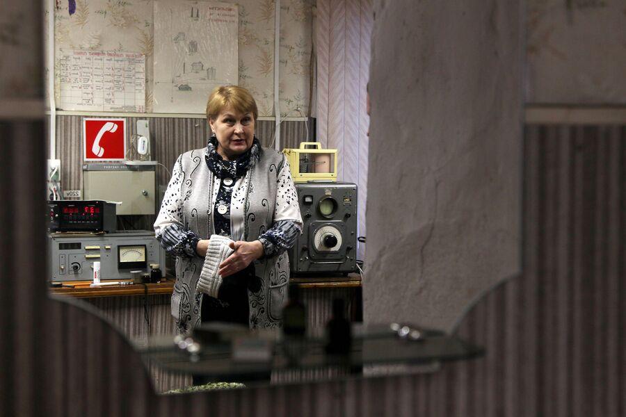 Любовь Дмитриевна Исупова на станции