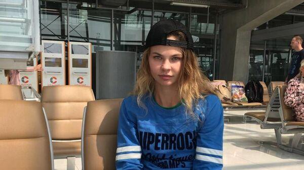 Анастасия Вашукевич (Настя Рыбка) в аэропорту Бангкока. 17 января 2019