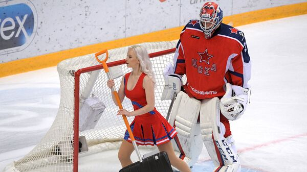 Хоккей. КХЛ. Матч ЦСКА - Автомобилист