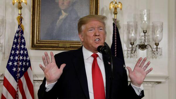 Президент США Дональд Трамп выступает с замечаниями по вопросам безопасности границ и шатдауна в Белом доме в Вашингтоне. 19 января 2019