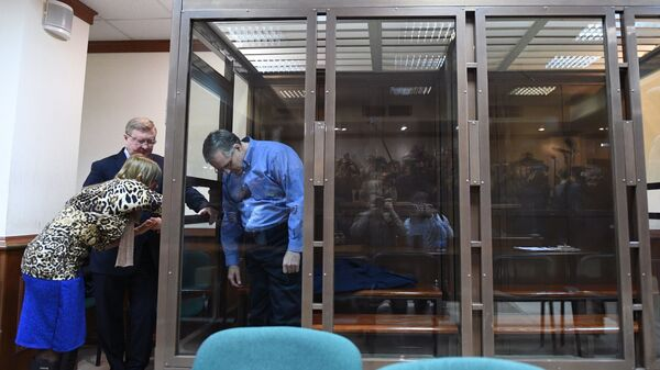 Гражданин США Пол Уилан, обвиняемый в шпионаже против РФ, во время рассмотрения апелляционной жалобы на постановление об избрании меры пресечения в Мосгорсуде. 22 января 2019