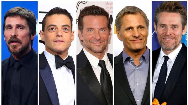 Номинанты на премию Оскар в категории лучший актер:  Кристиан Бейл, Рами Малек, Брэдли Купер, Вигго Мортенсен и Уиллем Дефо
