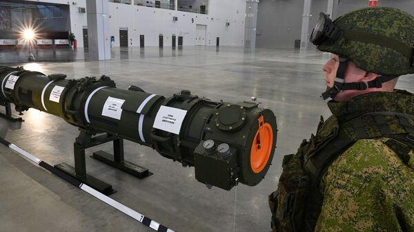 Ракета 9М729 в выставочном павильоне КВЦ Патриот