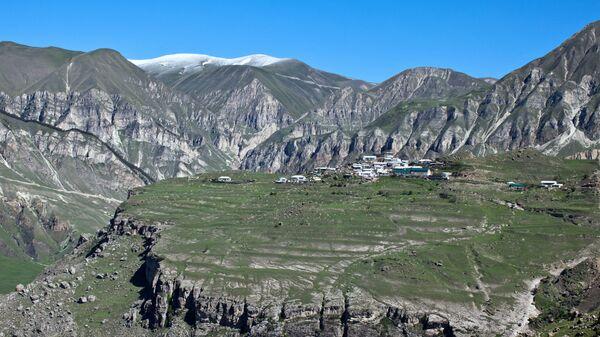 Вид на село в Дагестане