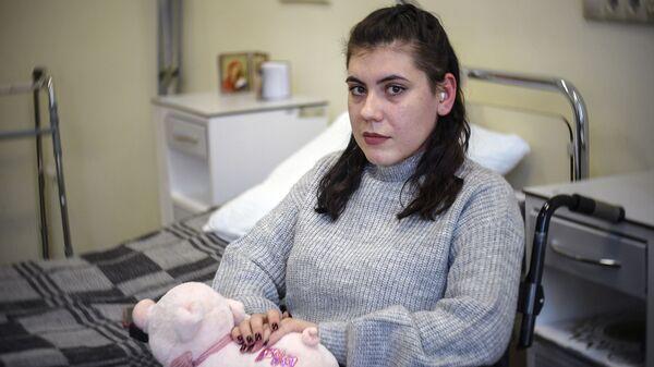 Студентка Людмила, пострадавшая во время взрыва бомбы в Керченском политехническом колледже