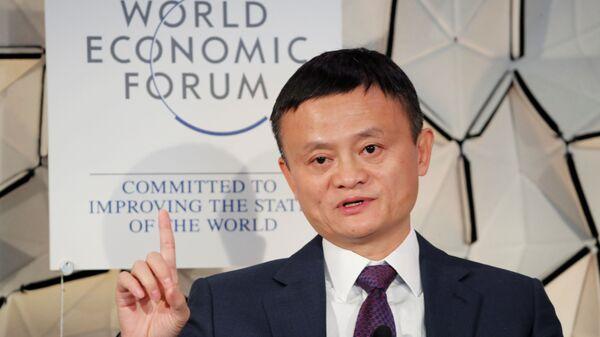 Основателель Alibaba Джек Ма на полях Всемирного экономического форума в Давосе, Швейцария. 23 января 2019