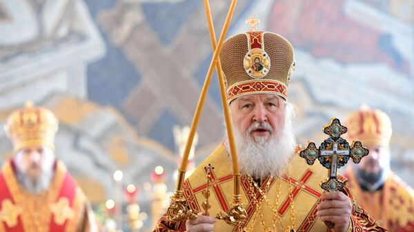 Патриарх Московский и всея Руси Кирилл совершает Божественную литургию в домовом храме святой мученицы Татианы при МГУ