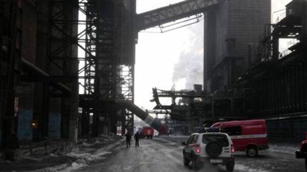 Пожар на ленте углеподачи Магнитогорского металлургического комбината