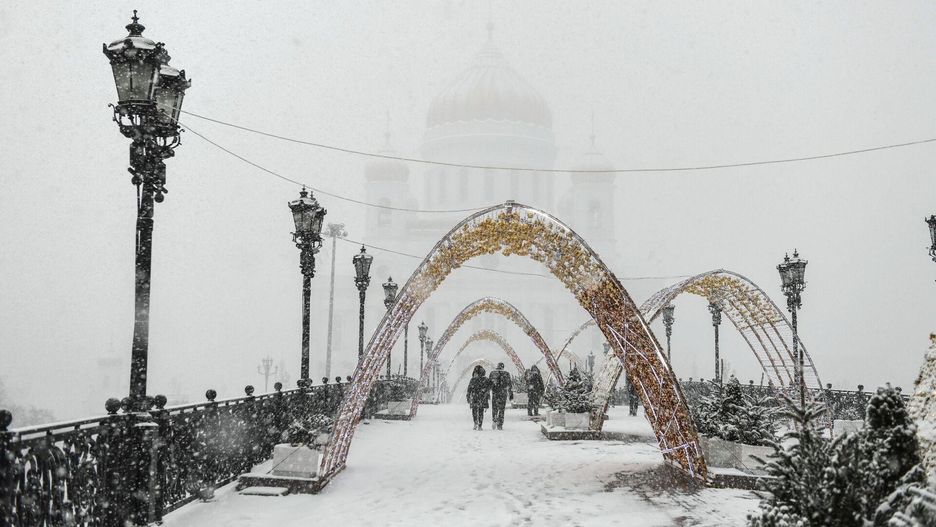 Снегопад в Москве - РИА Новости, 1920, 21.01.2021
