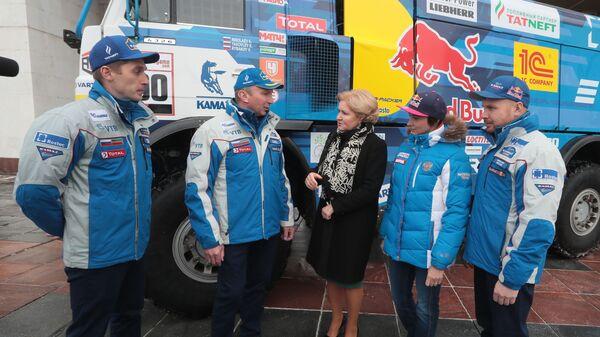 Ольга Голодец встретилась с участниками команды КАМАЗ-мастер