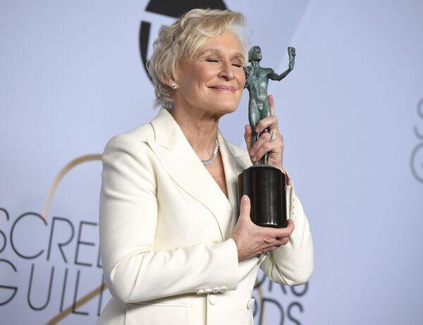 Гленн Клоуз на церемонии вручении премии Гильдии киноактеров США