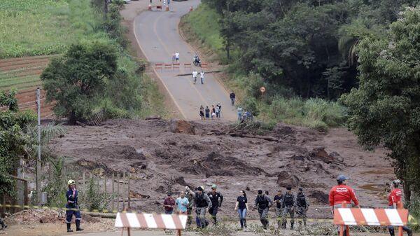 Последствия прорыва плотин на шахте корпорации Vale в штате Минас-Жерайс, Бразилия