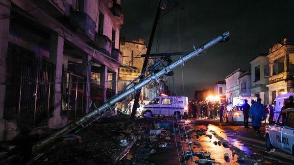 Последствия торнадо на Кубе