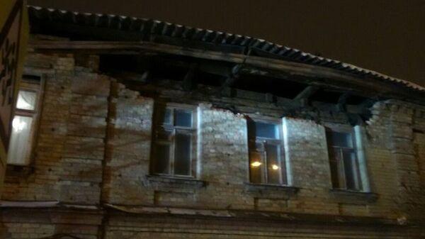 Обрушение кирпичной кладки лицевой части дома в Тамбове. 29 января 2019