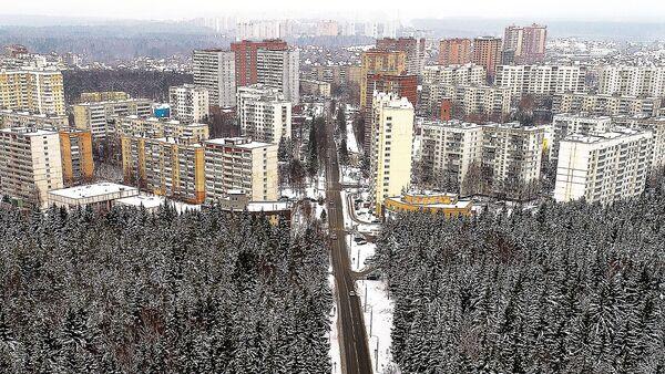 Вид на подмосковный жилой район