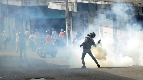 Акция протеста против президента Венесуэлы Николаса Мадуро в Тачире