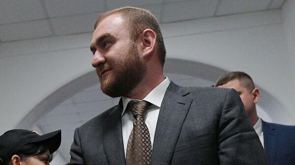 Сенатор Рауф Арашуков в Басманном суде Москвы. 30 января 2019