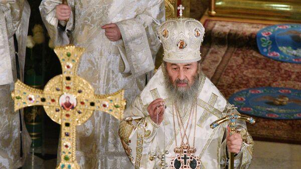 Митрополит Киевский и всея Украины Онуфрий проводит рождественское богослужение в Киево-Печерской лавре