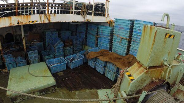 Ящики с уловом на судне Нишино Мару-68