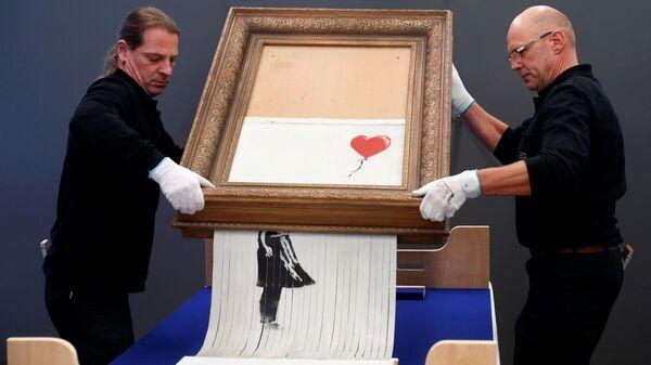 ВГермании деактивировали шредер всамоуничтожившейся картине Бэнкси
