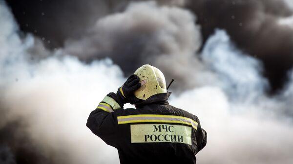 Сотрудник пожарно-спасательного подразделения МЧС